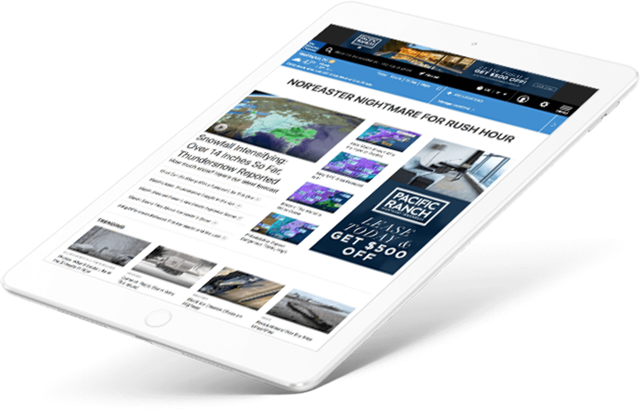 iPad with Weather Website